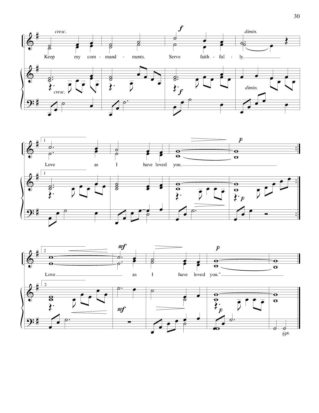 he touched me sheet music pdf