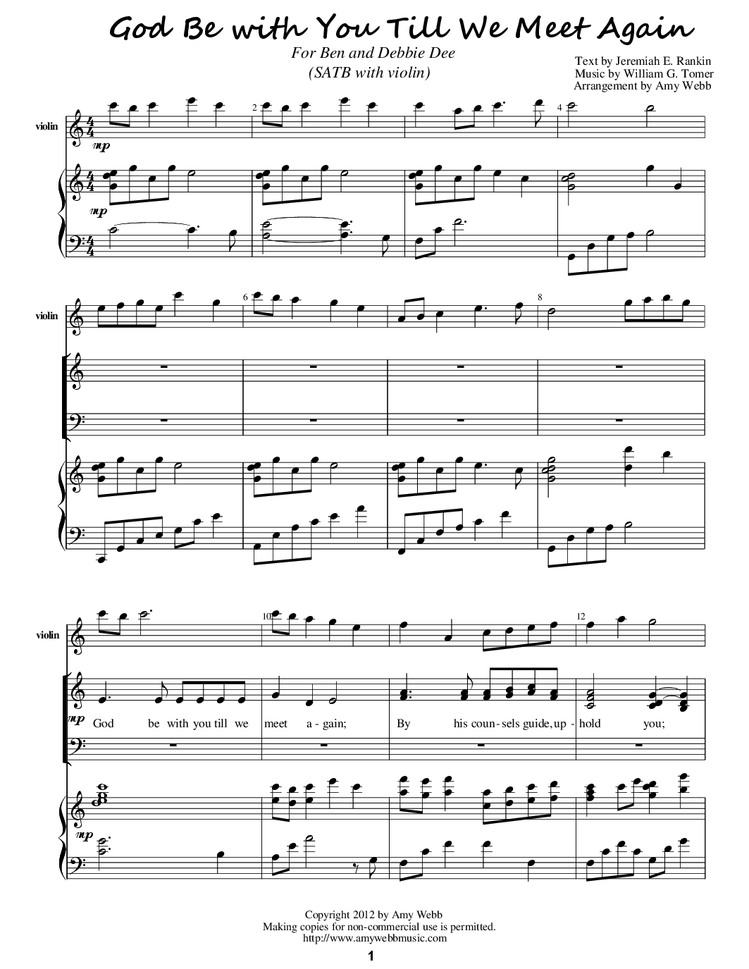 Deathfuneral sheet music 117 free arrangements god be with you till we meet again hexwebz Images