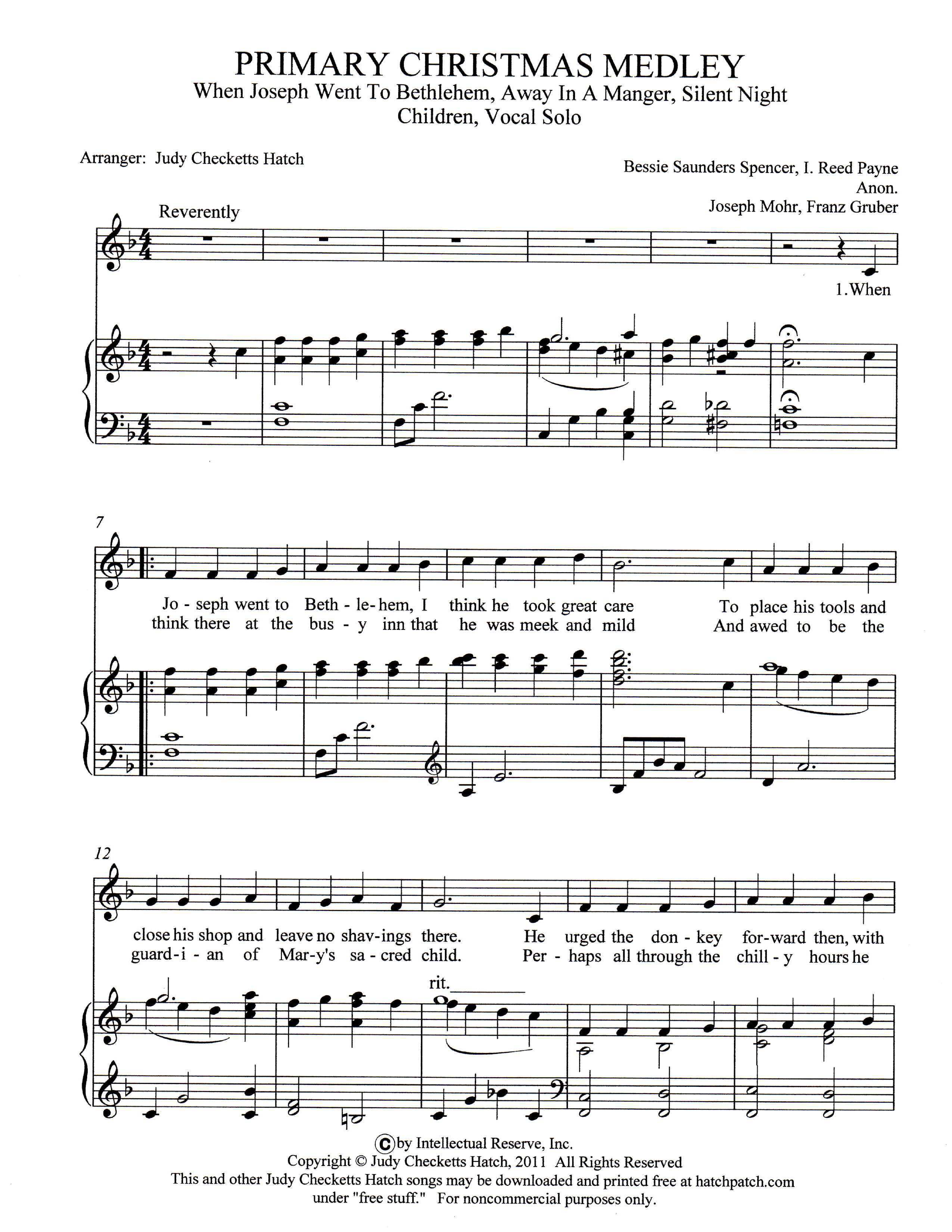 sheet_music_picture - Christmas Medley Lyrics
