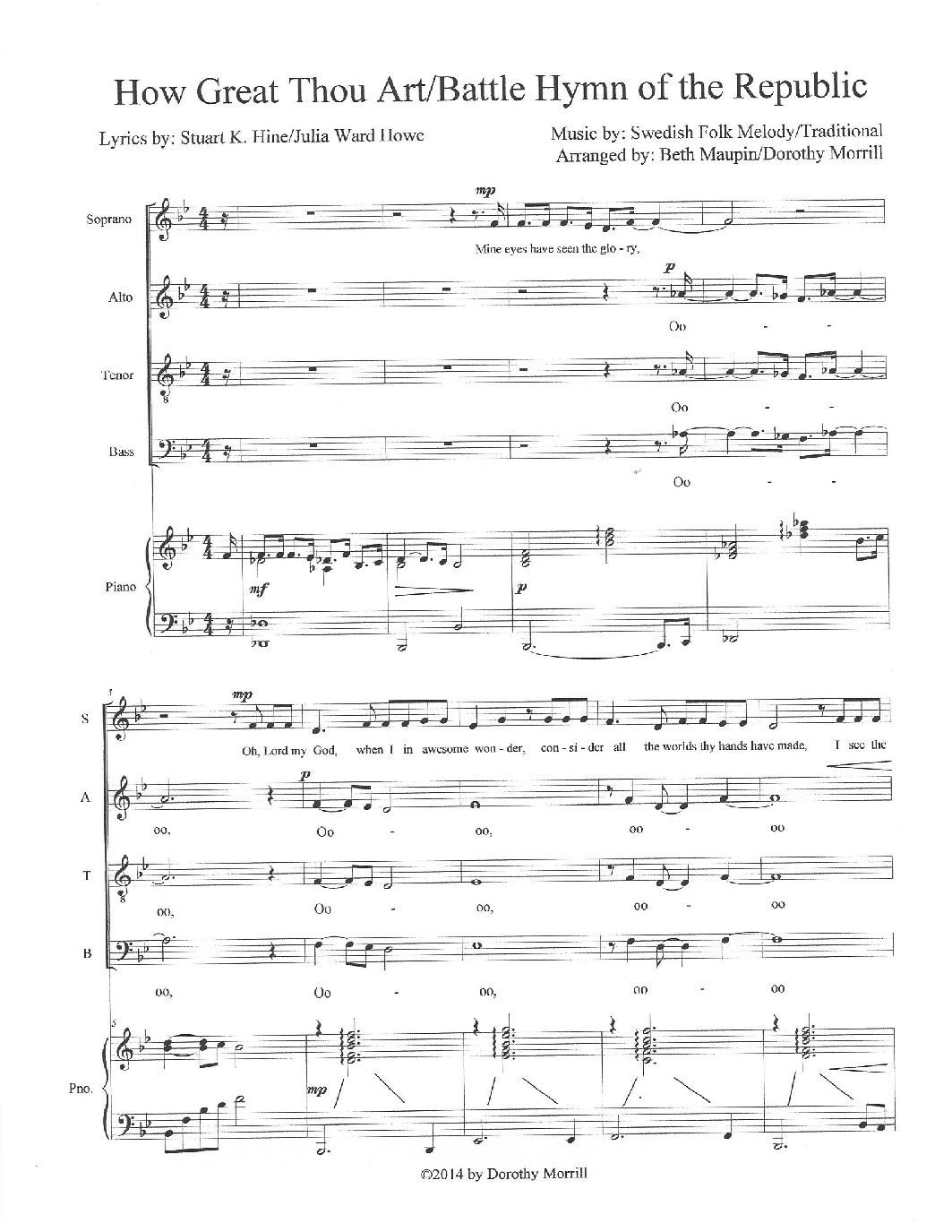 How Great Thou Art Sheet Music Bogasrdenstaging