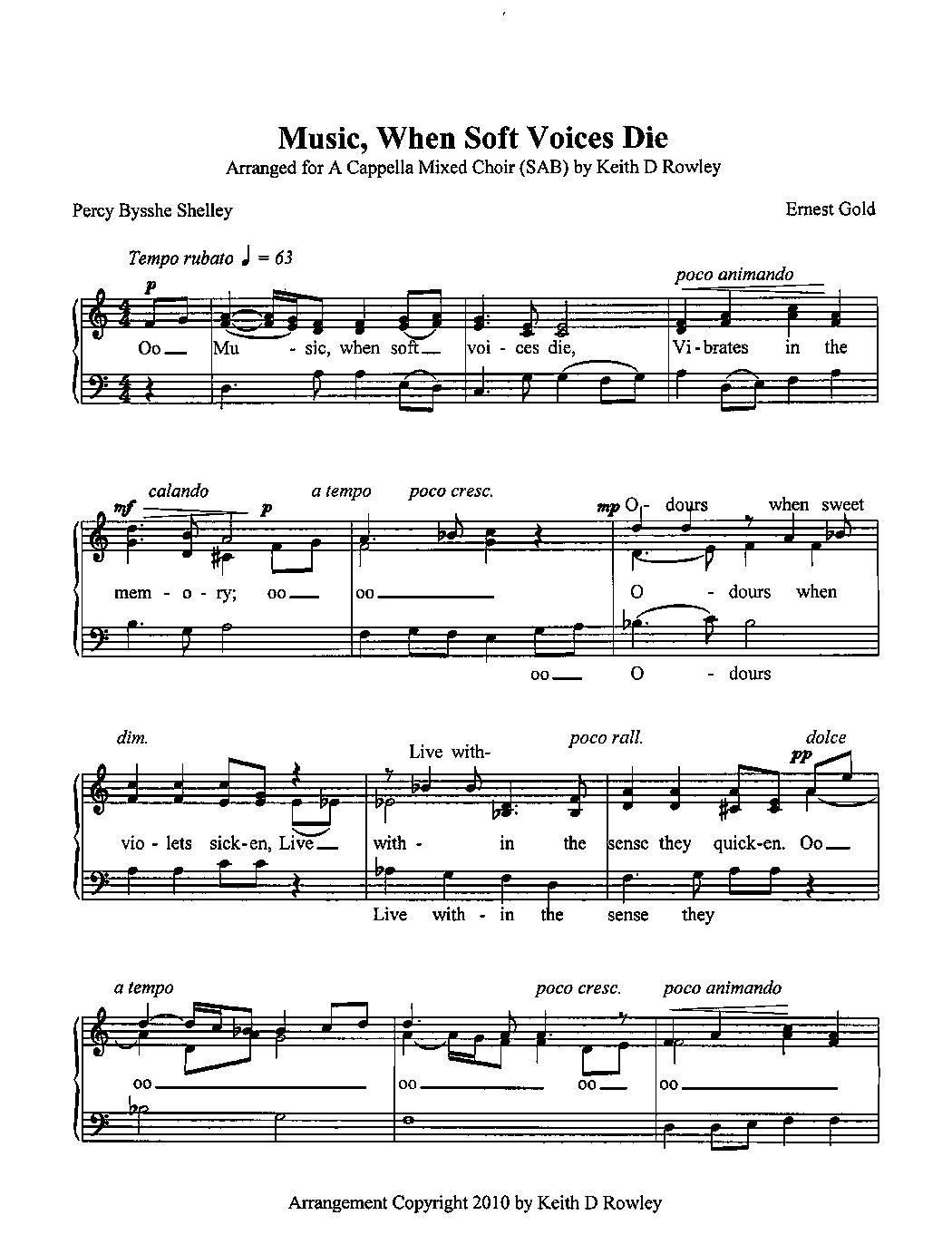 music when soft voices die pdf