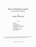 More Christmas Carols: Especially for Children