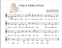 EASY PIANO - I Am a Child of God (Big notes)