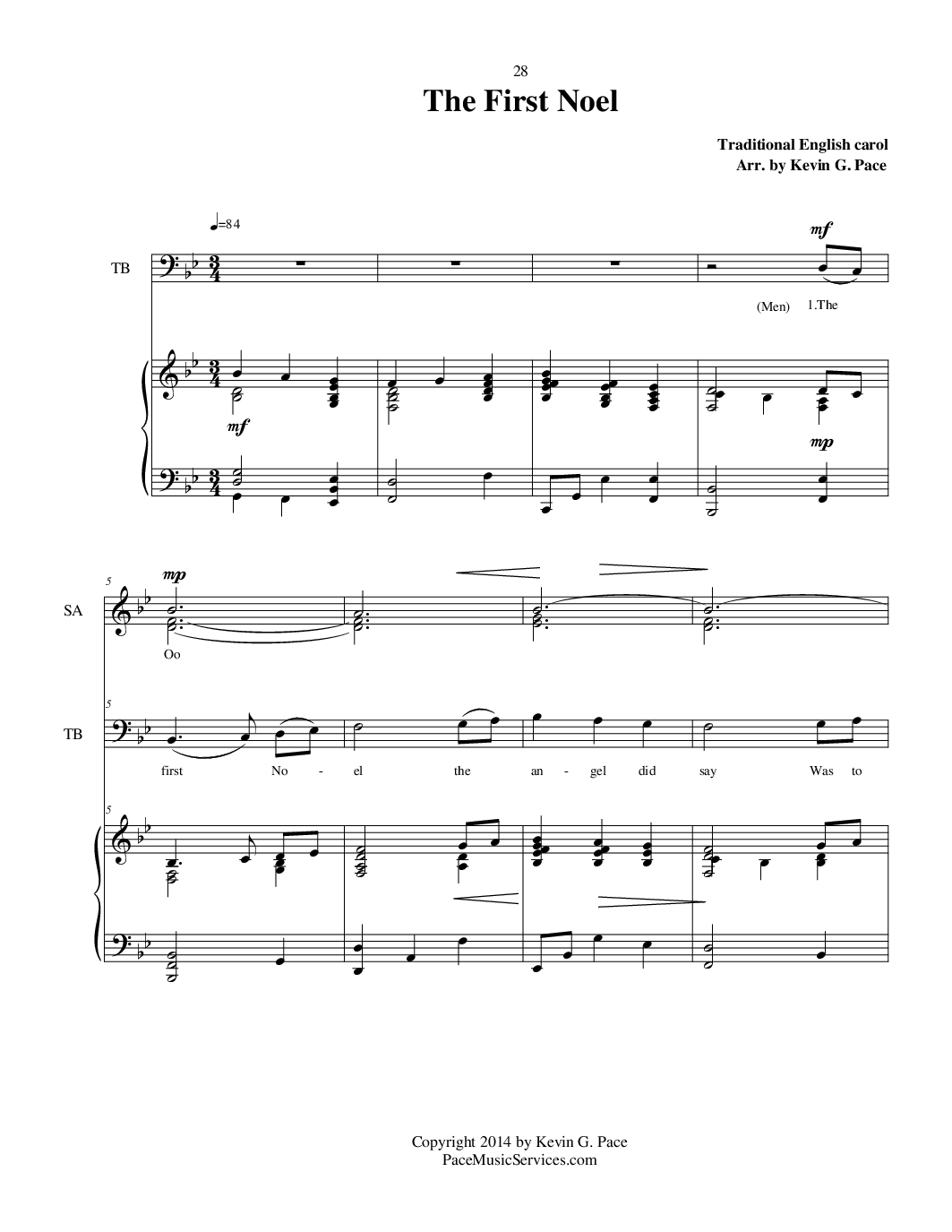 Christmas sheet music (993 Free Arrangements)