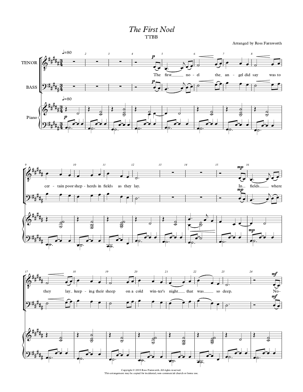 Top Five Barbershop Sheet Music Free Download - Circus