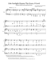 Like Sunlight Gleams Thy Grace, O Lord