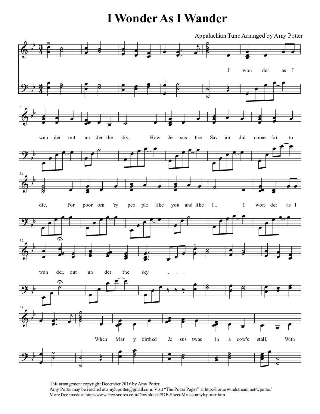 Piano solo 487 free arrangements i wonder as i wander hexwebz Images
