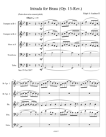 """Intrada for Brass (Op.13, Revised)"""