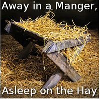 Away In a Manger, Asleep on the Hay (piano/organ/violins/flute)