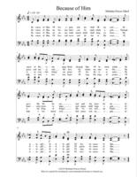 Because of Him (Hymn format)